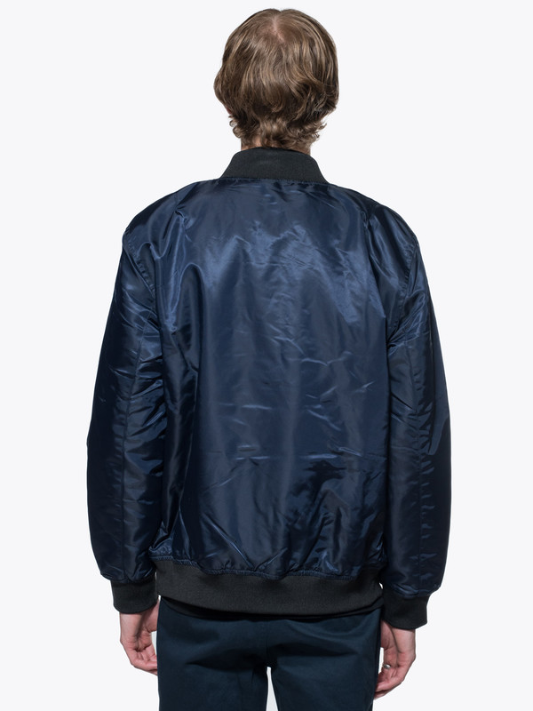 Men's Stussy Flight Satin Bomber Jacket