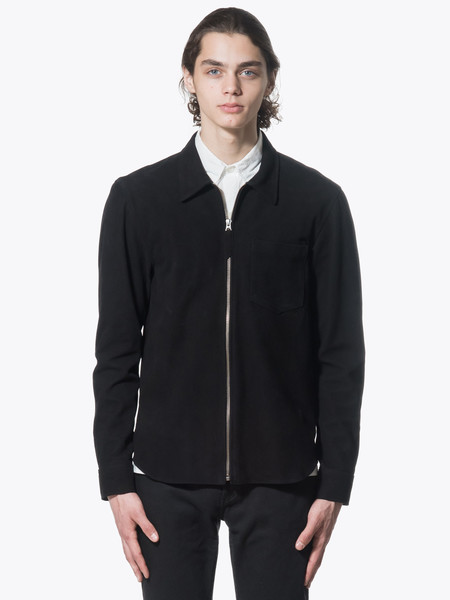 Men's Our Legacy Suede-Zip-Shirt