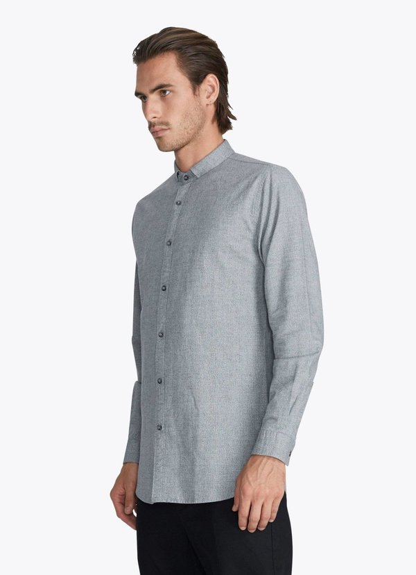 Men's Zanerobe Tuck 7ft LS Shirt Static Marle