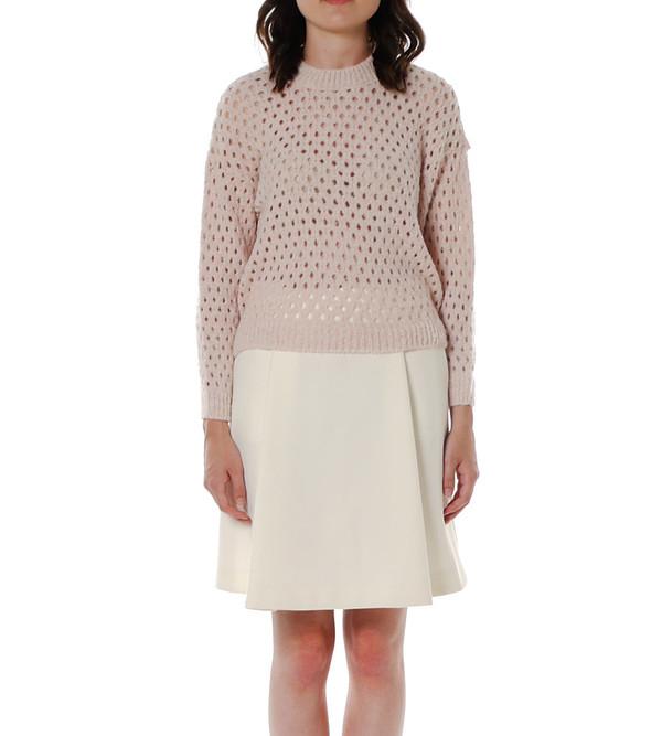 Nanushka Fluffy Net Sweater