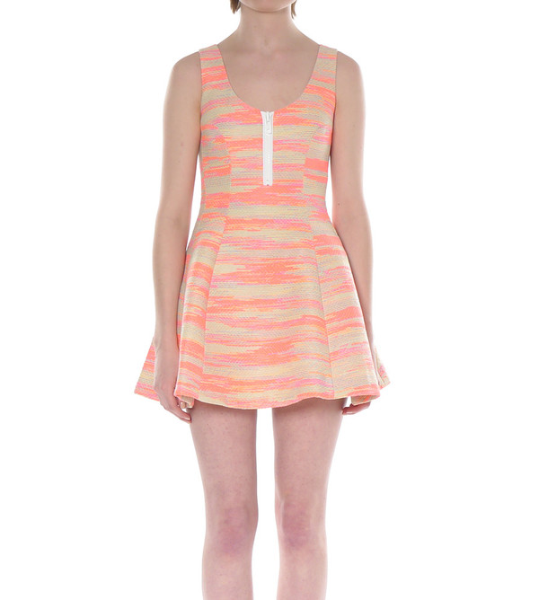 Calla Fluorescent Multi-Color Dress