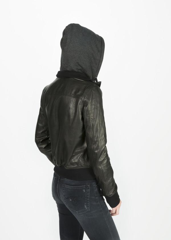 R13 Hooded Flight Jacket