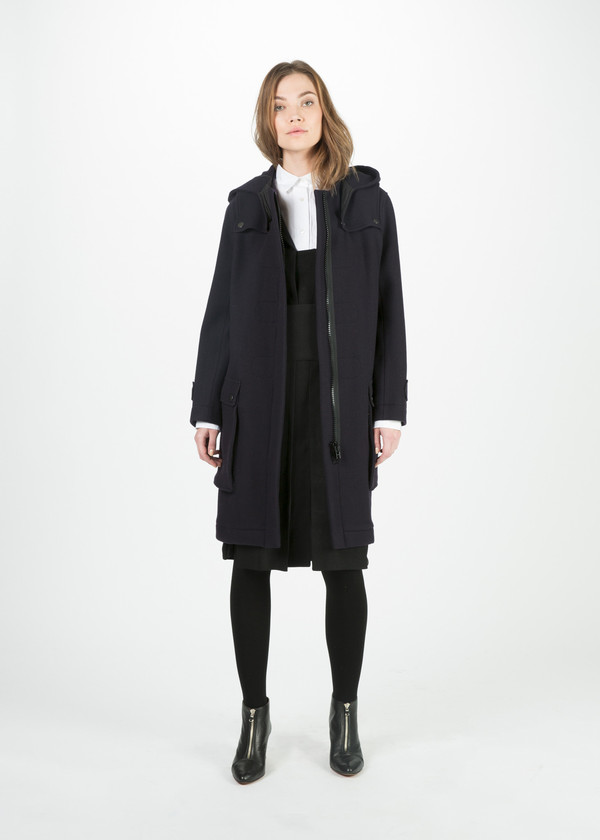 Hache Hooded Wool Coat