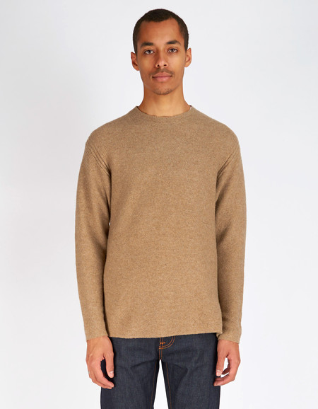 Men's Filippa K Wool Cotton Sweater Cork Melange