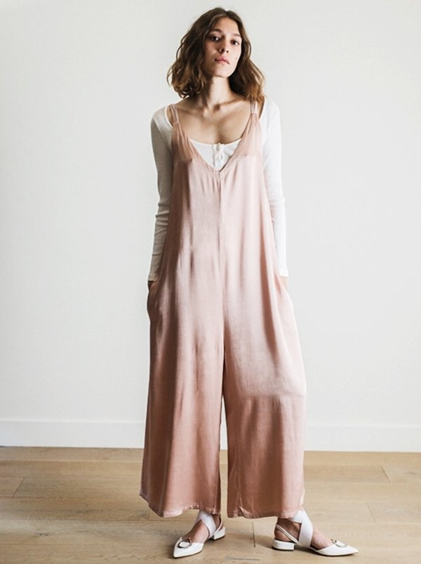 Lacausa Clothing Santi Jumpsuit - Rose