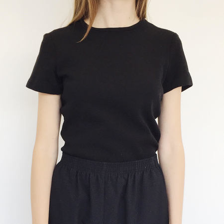 Johan Vintage Black Wool T-shirt