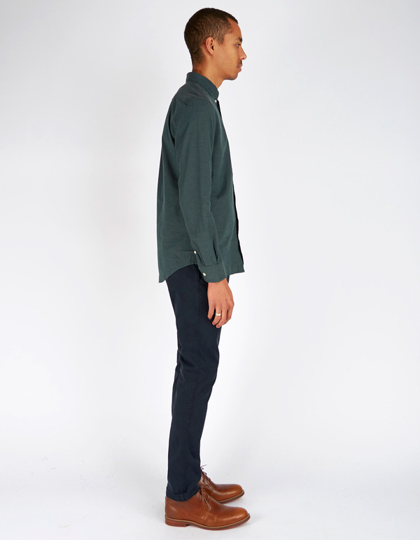 Men's No Nationality New Derek LS Flannel Shirt Green