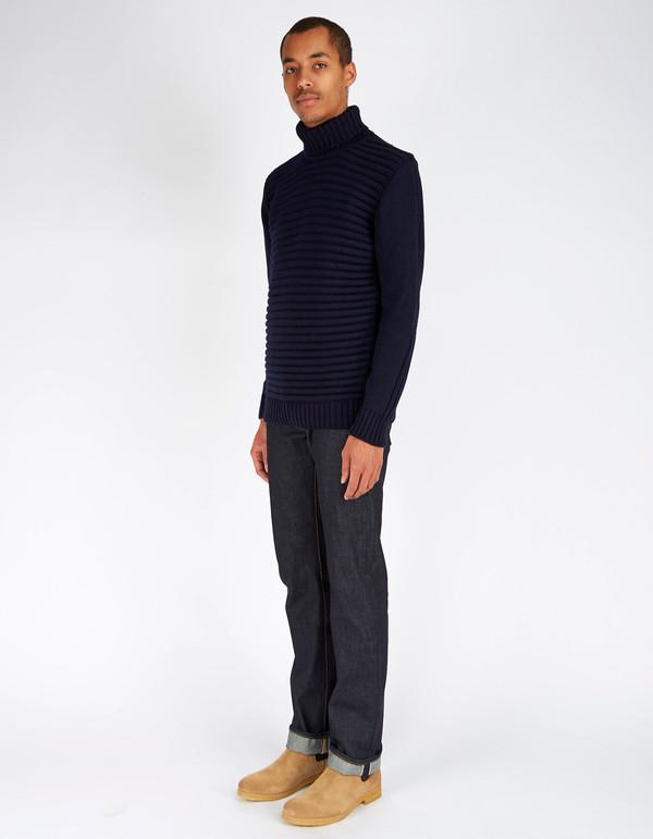 Peregrine Mariner Turtleneck Sweater Navy