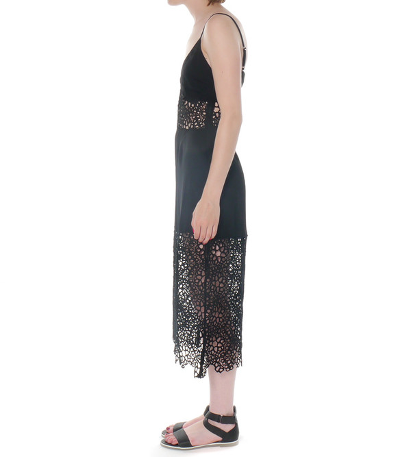Shakuhachi Honeycomb Lace Dress