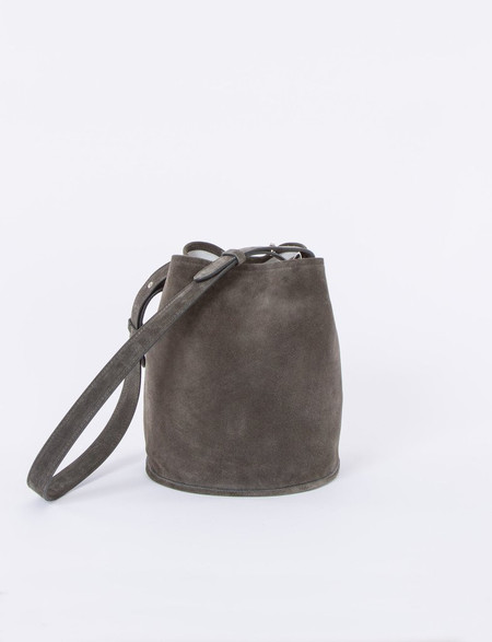 Creatures of Comfort Small Bucket Bag in Storm Suede