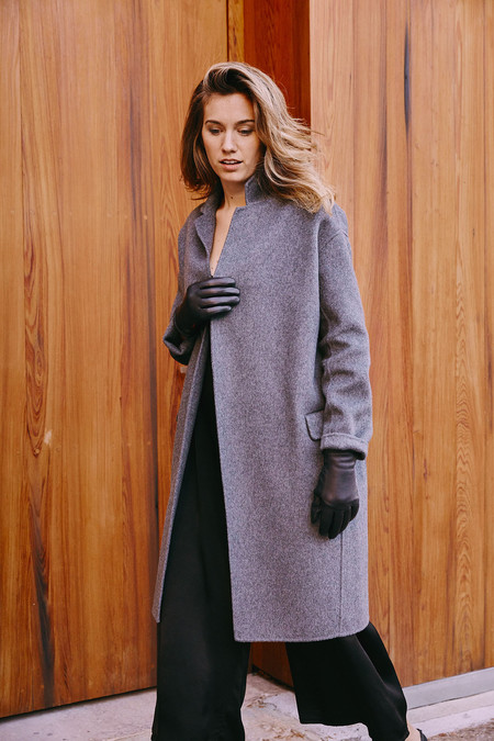 Achro Handmade Long Coat - Grey