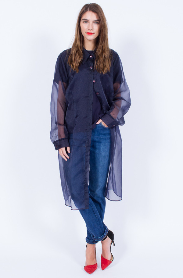 NAVY SHEER JACKET (ONE SIZE)
