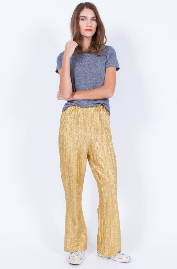 GOLD DISCO PANTS (MEDIUM)