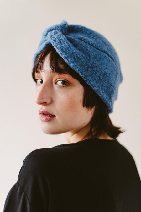REIFhaus Turban Hat in Venitian Blue Wool