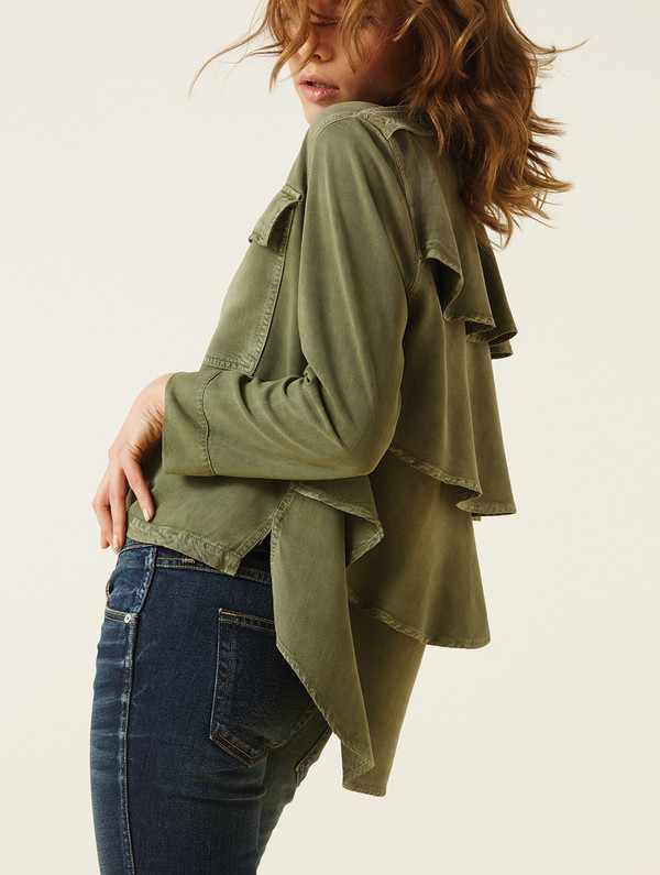 AMO Ruffle Army Shirt Jacket - Surplus