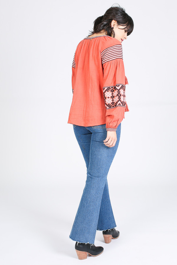 Antik Batik Modi Blouse in Rust