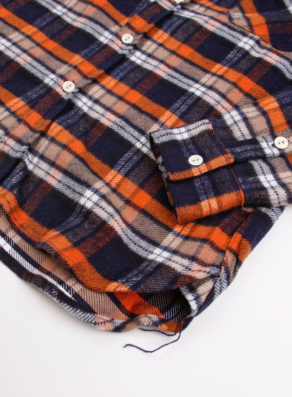Men's 3Sixteen Shaggy Workshirt - Blue/Orange