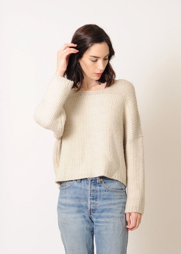 Micaela Greg Woven Stitch Sweater