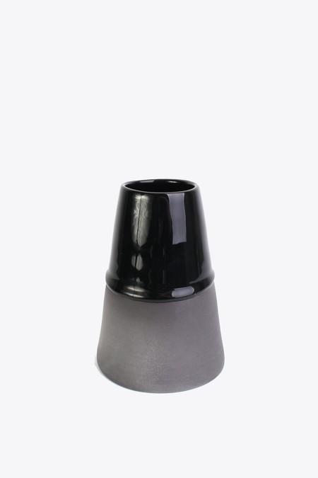 BTW Ceramics Medium Vase in Back in Black Series