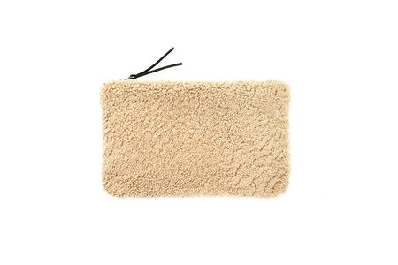 Primecut TAN SHEEPSKIN CLUTCH