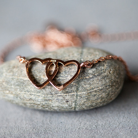 Bing Bang NYC Love Up Necklace Rose Gold
