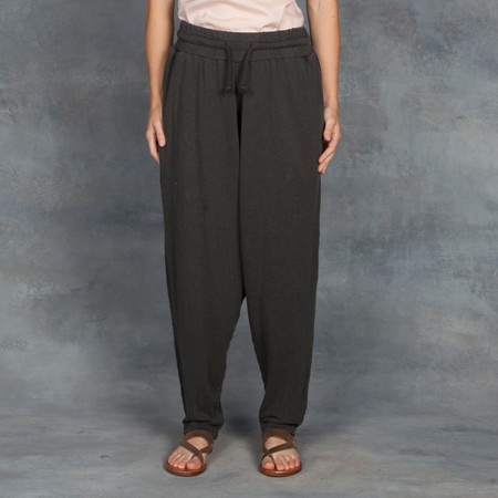 Black Crane Jersey Pant in Charcoal