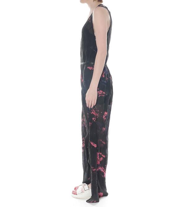 Raquel Allegra Maxi Silk Tie Dye Tank Dress with Belt
