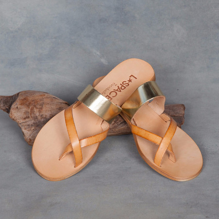 Cocobelle L* Space Iris Gold and Natural Sandal