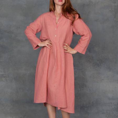 Giada Forte Linen Gauze Dress in Rosa