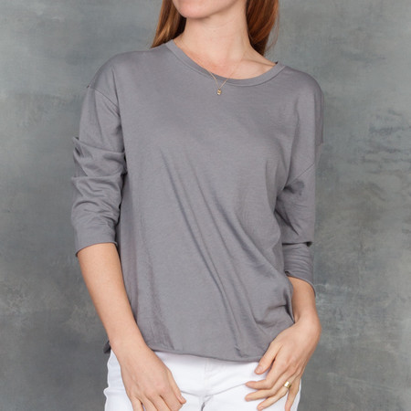 Organic by John Patrick 3/4 Length Tee in Granite