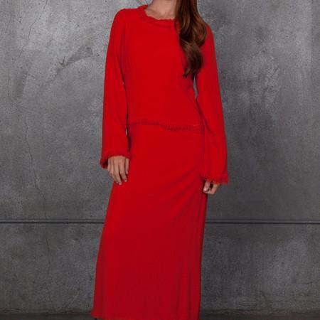Raquel Allegra Crepe Panel Dress - Poppy Red
