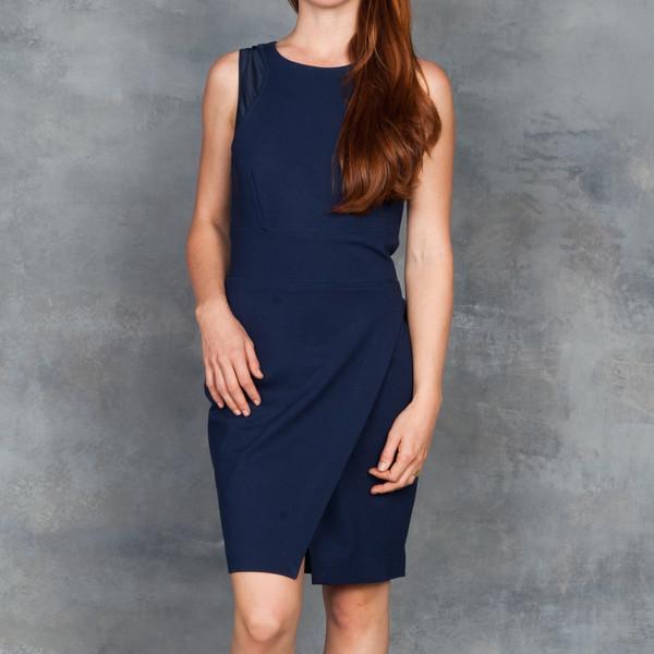 Tart Leah Dress in Navy Ponte