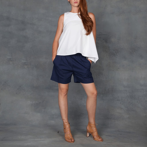 WHIT NYC Lulu Top in White Poplin