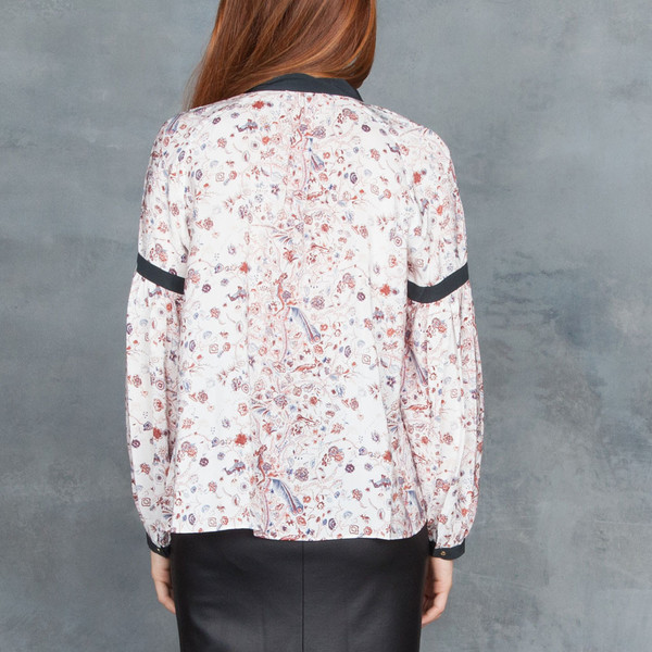 Ulla Johnson Etienne Print Blouse In Dove