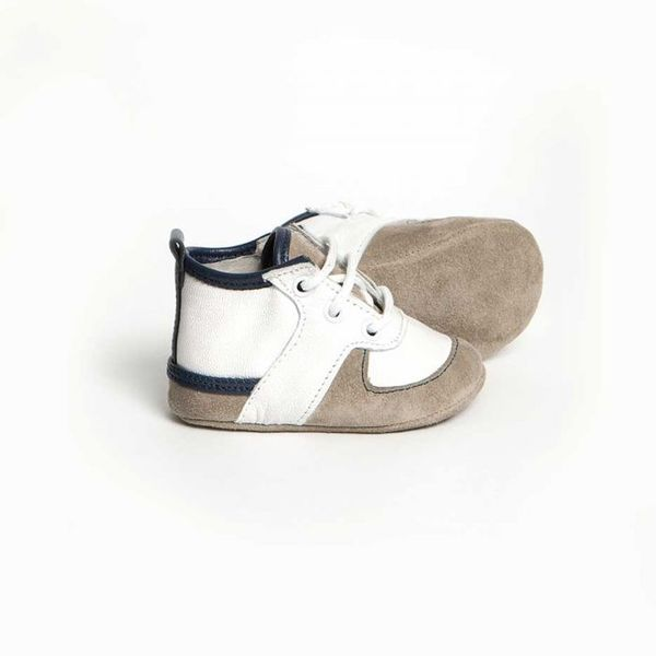 Little Lulu's White and Blue Louie Tennis Shoes