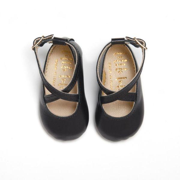 Little Lulu's Black Sia Ballet Pumps