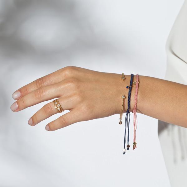 Shahla Karimi 14K Gold Woven Birthstone Bracelet