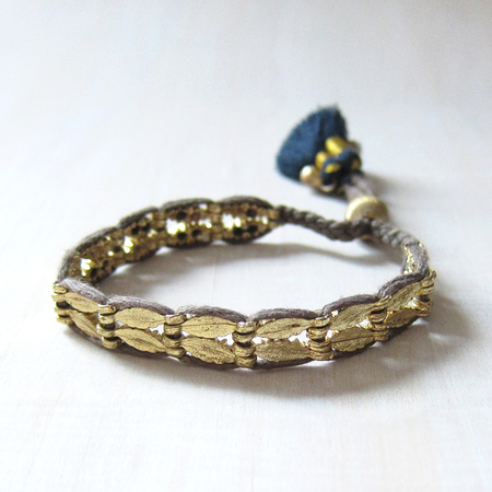 Bluma Project Chandi bracelet - taupe/navy