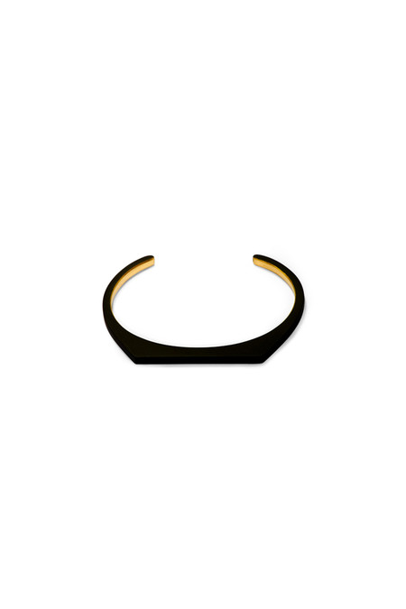 Ming Yu Wang Moon Matte Brass Bangle