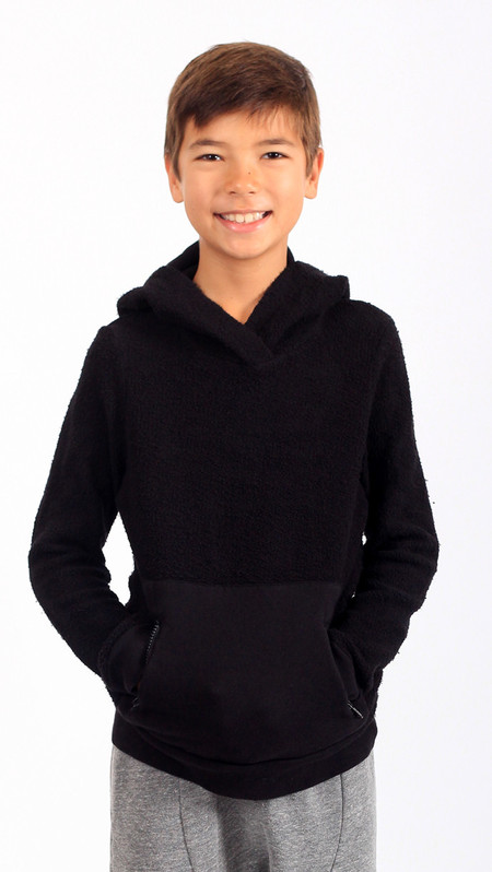 Kid's Mimobee Puffy Pullover Hoodie - Olive