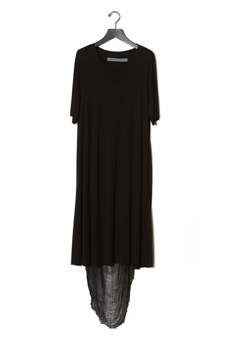 Raquel Allegra Short Sleeve A- Line Maxi Dress