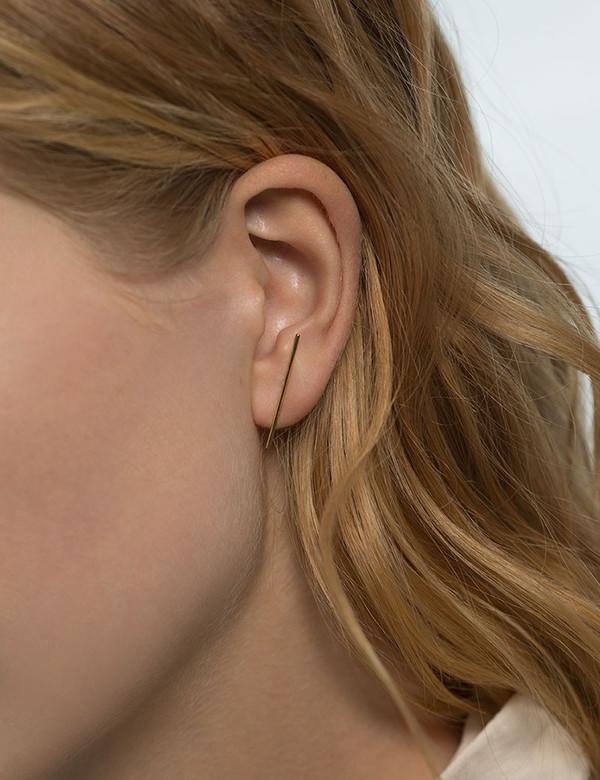 Kathleen Whitaker Gold Stick Earring