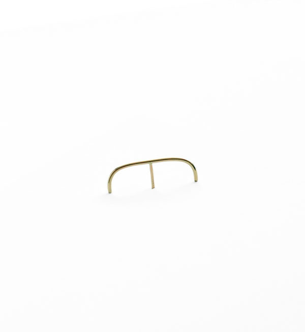 Kathleen Whitaker Gold Stitch Medium Earring