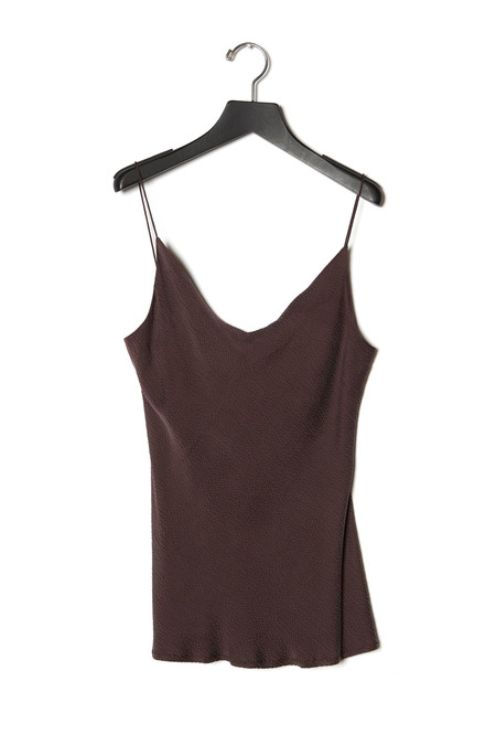 KES Raw Edge Hammered Silk Slip Top