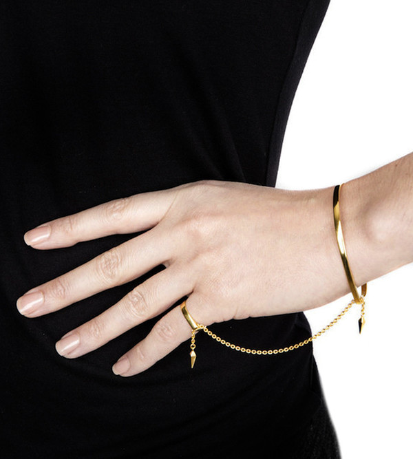 Rose Gold Philo Pinky Finger BraceletMaria Black