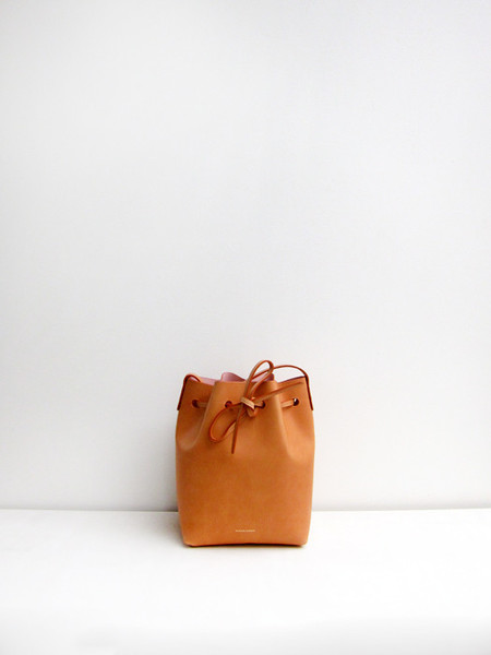 Mansur Gavriel Mini Bucket Bag, Cammello/Raw