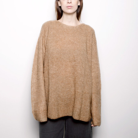 7115 by Szeki Mohair Pullover Sweater - Camel FW16