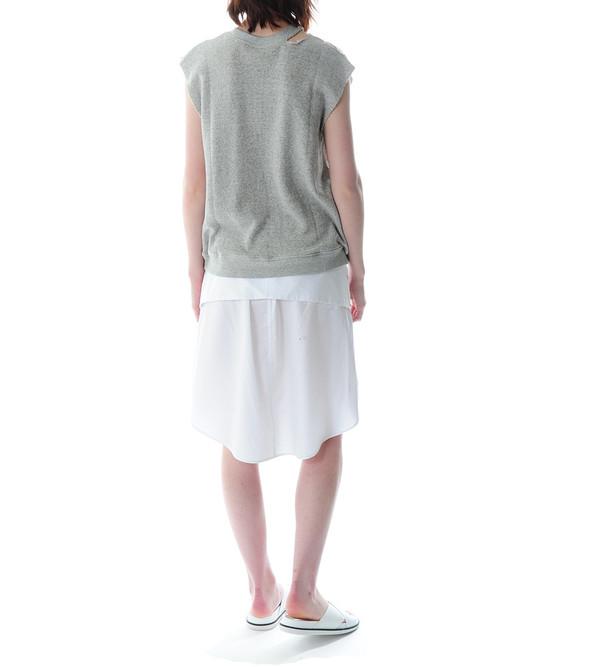 R13 Sleeveless Rip Sweatshirt