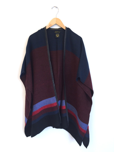 A Peace Treaty Handwoven Maroon Awliya Cape with Leather Trim