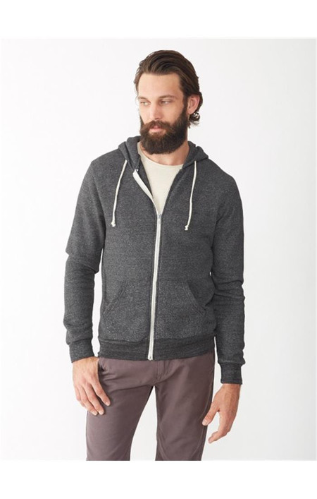 Men's Alternative Apparel Rocky Eco-Fleece Zip Hoodie